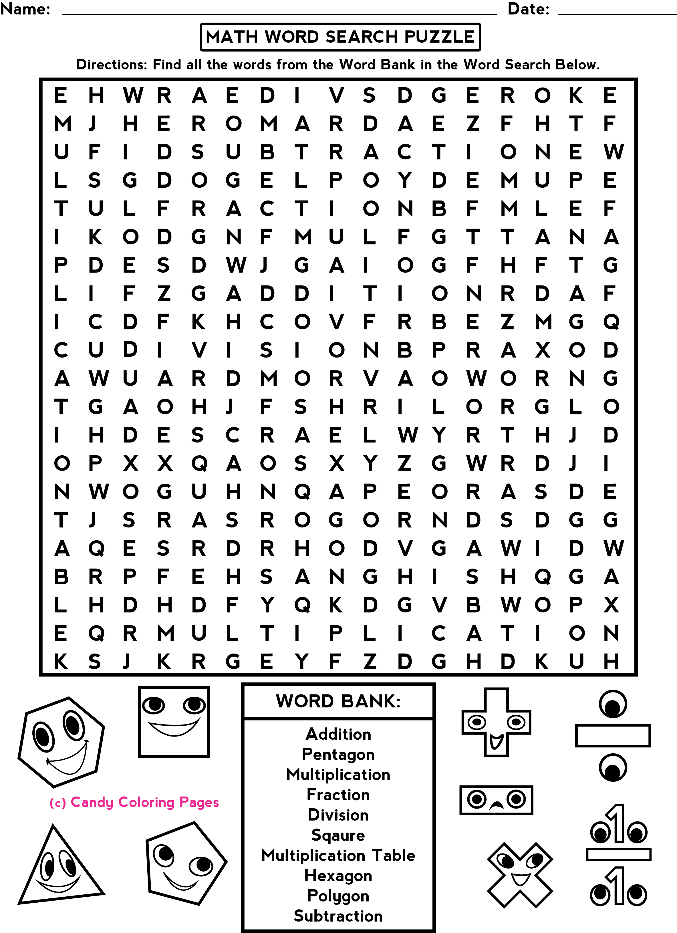 Printables 5th Grade Math Worksheets Pdf penny candy math worksheets educational sites for kids puzzles polygons grade worksheets